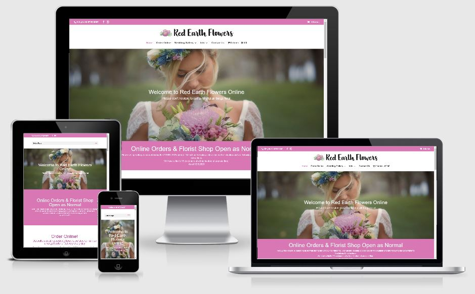 Red Earth Flowers Website Design Kilsyth, Victoria