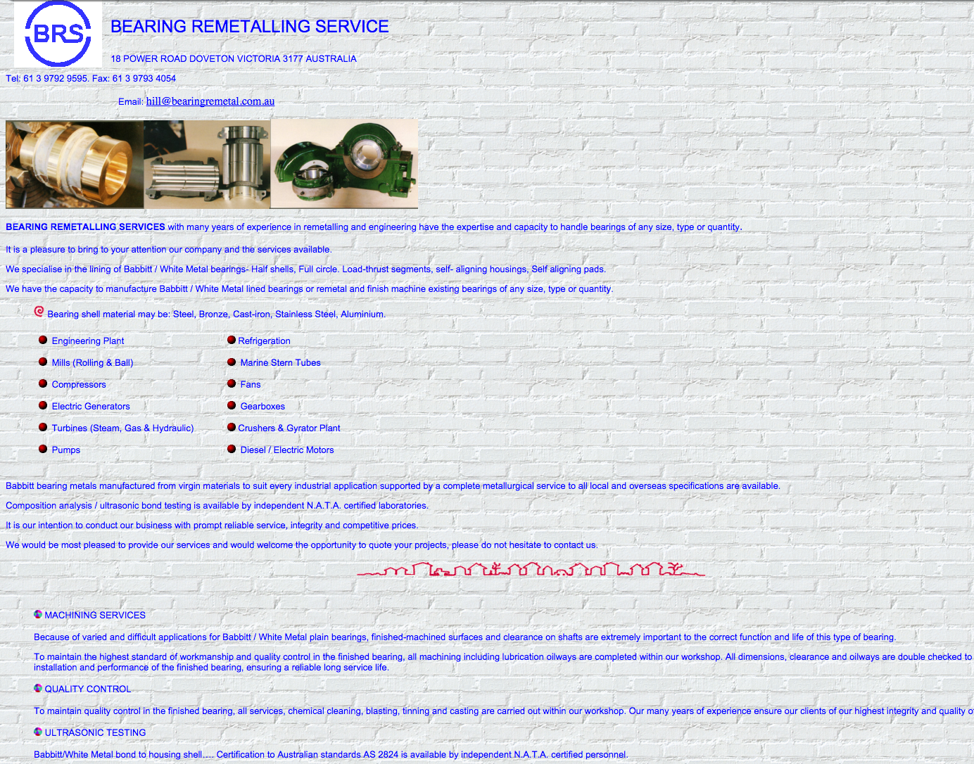 Website Design Bearing remetal