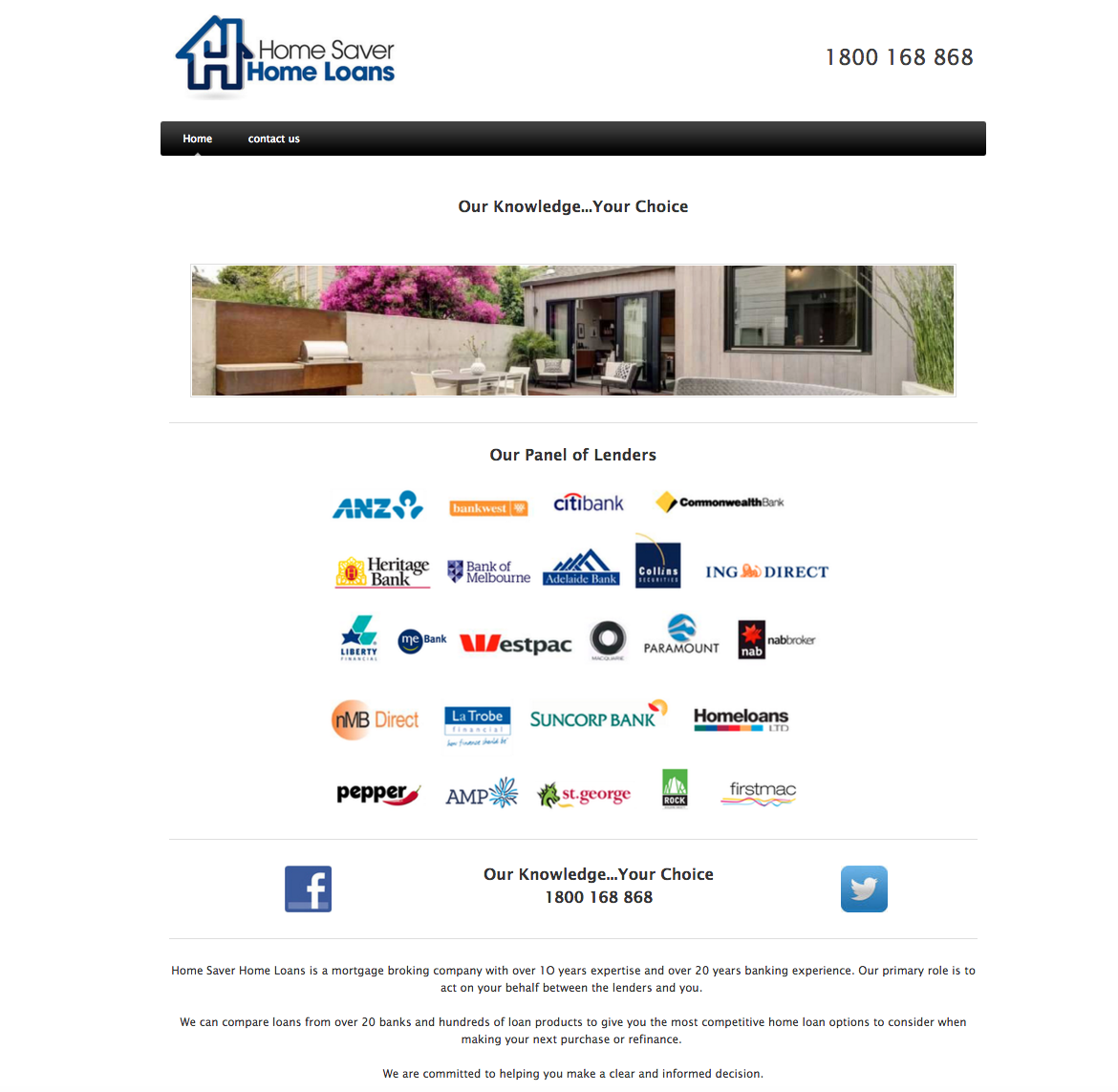 Website Design Home saver home loans old design