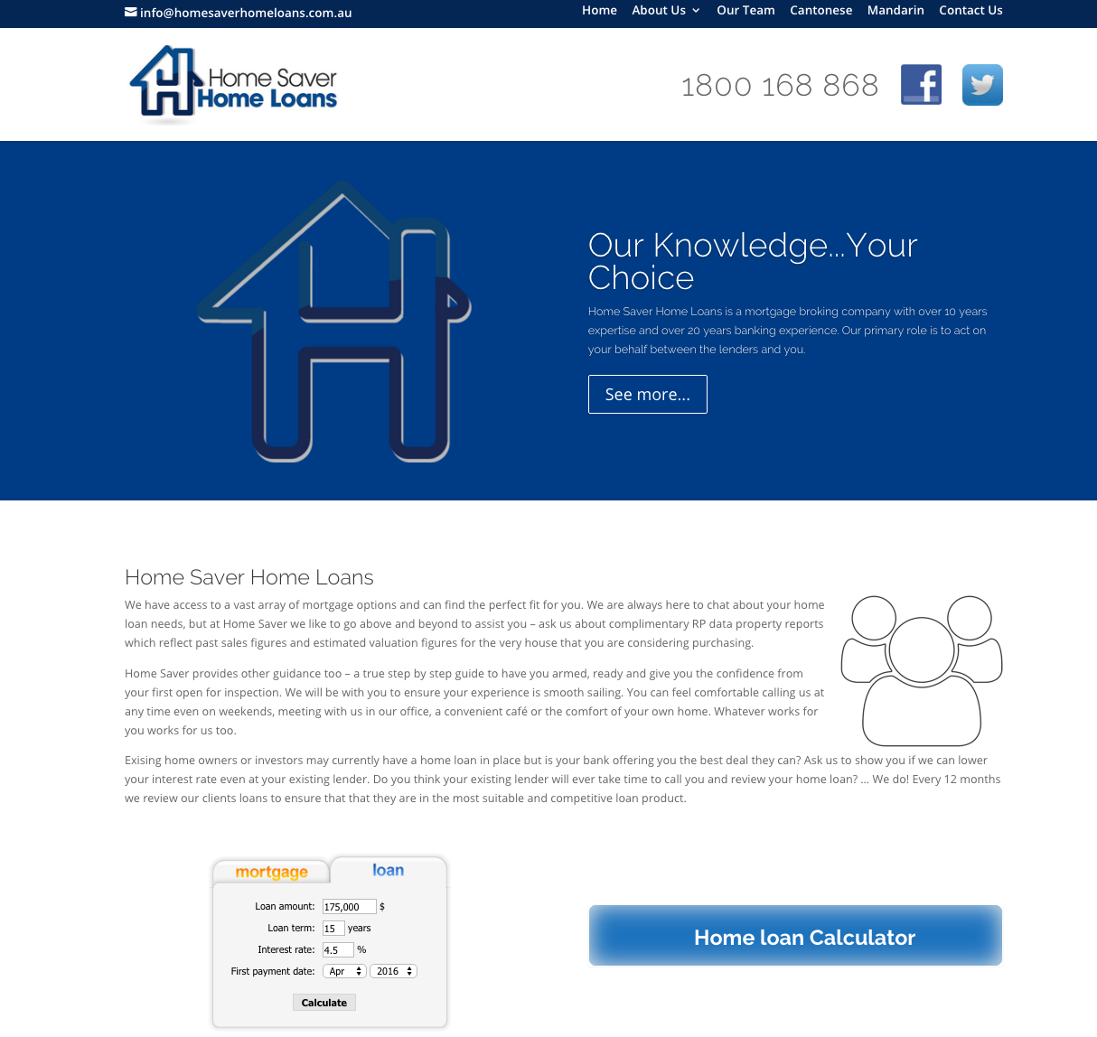 Website Design Homesaver Home Loans new