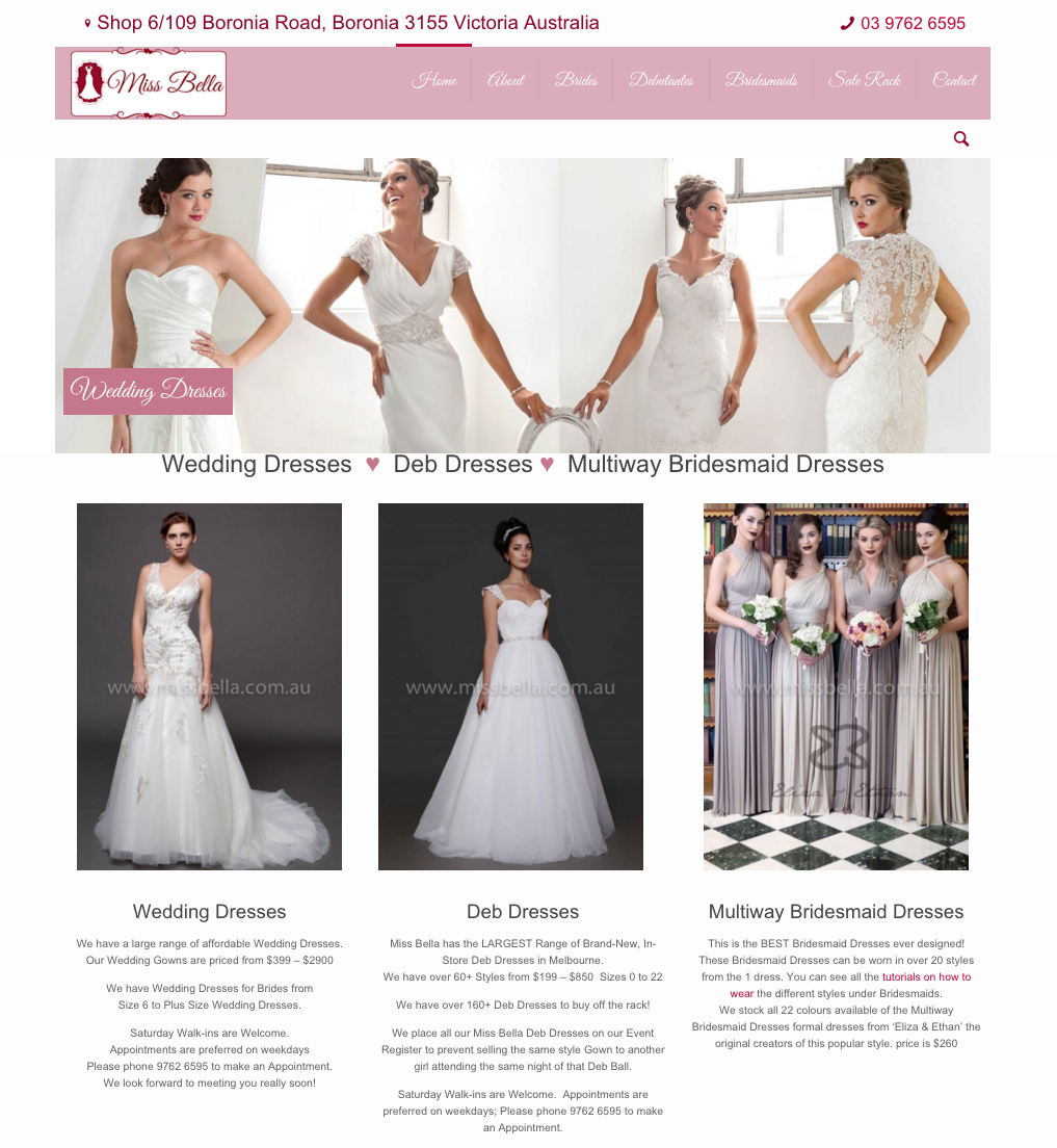 Website Design Miss Bella New