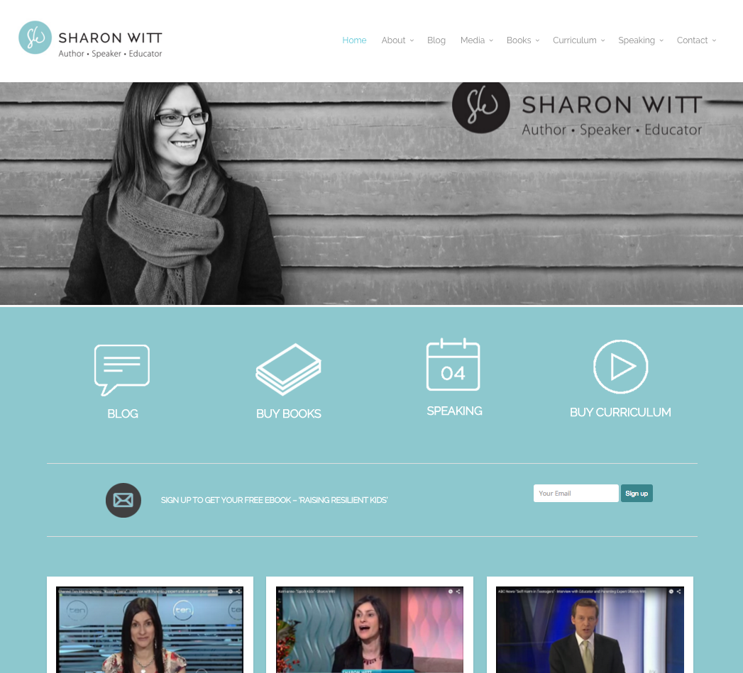 Website Design Sharon Witt new design