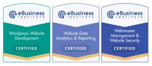ebusiness institute webmaster certifications