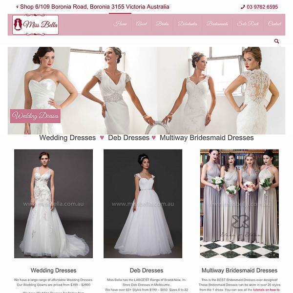 Website Design Miss Bella